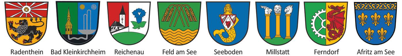 Radenthein, Bad Kleinkirchheim, Reichenau, Feld am See, Seeboden. Millstatt, Ferndorf, Afritz am See